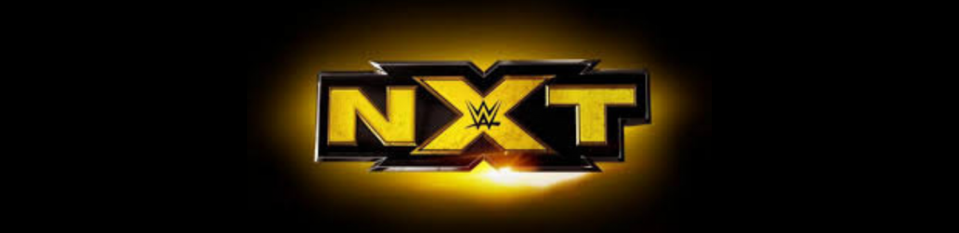 black background with NXT gold logo