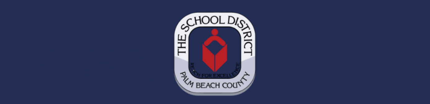Blue Background with Palm Beach County School Board Logo