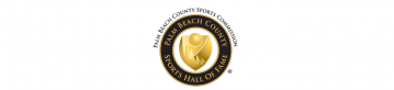 White Background seal of Palm Beach County Sports Commission Seal