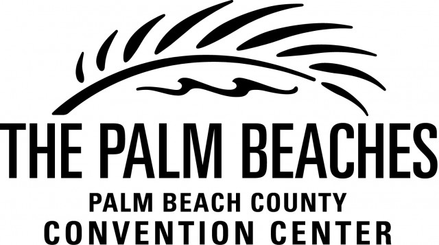 Palm Beach County Convention Center logo in black
