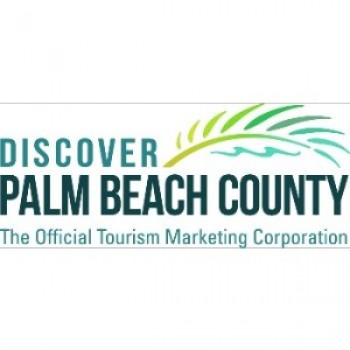 Photo of the Discover the Palm Beach's logo with palm leaf. This link will take you to Discover the Palm Beach's official website; the tourism marketing arm for Palm Beach County.